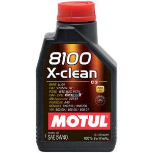 น้ำมันเครื่อง Motul 8100 X-clean 5W40